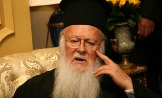 Έκκληση για αυτοσυγκράτηση και νηφαλιότητα για το Σκοπιανό απευθύνει ο Βαρθολομαίος