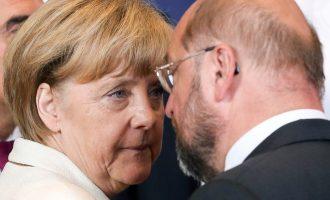 Το 52% των Γερμανών θεωρεί «κακή λύση» τη συγκυβέρνηση Μέρκελ-Σουλτς