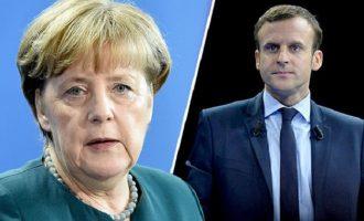 Μακρόν – Μέρκελ: Όχι αμερικανικές κυρώσεις σε ευρωπαϊκές εταιρείες