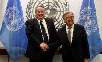 Νέα Υόρκη: Συνάντηση Κοτζιά-Γκουτέρες στο κτίριο του ΟΗΕ στη Νέα Υόρκη