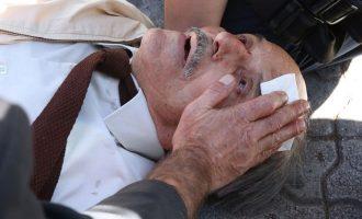 Δικαστήρια Ευελπίδων: Άνδρας των ΜΑΤ κυνηγούσε αντιεξουσιαστή και έριξε ηλικιωμένο από σκάλα (φωτο)