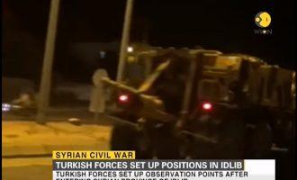 Δείτε τον τουρκικό στρατό να εισβάλει νύχτα στην επαρχία Ιντλίμπ της Συρίας (βίντεο)