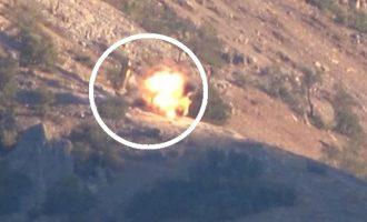 Κούρδοι αντάρτες χτυπάνε με ρουκέτα εκσκαφέα του τουρκικού στρατού (βίντεο)