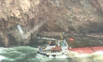 Διασώθηκαν οι 12 ναυτικοί φορτηγού πλοίου από βραχονησίδα στη Μύκονο (φωτο)