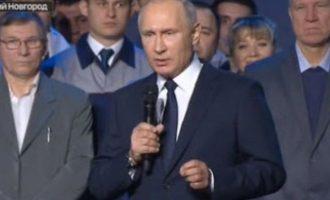 Ο Πούτιν ανακοίνωσε ότι θα είναι ξανά υποψήφιος Πρόεδρος της Ρωσίας