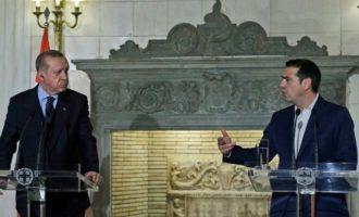 Ο Τσίπρας είπε καταπρόσωπο στον Ερντογάν ότι η χώρα του είναι εισβολέας στην Κύπρο