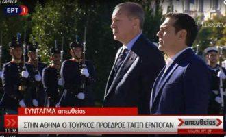 Στο Μνημείο του Άγνωστου Στρατιώτη ο Ερντογάν – Τι του είπε ο Τσίπρας