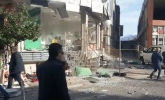 Ισχυρή έκρηξη κατέστρεψε τα γραφεία της σερβικής μειονότητας στη Σκόδρα της Αλβανίας (βίντεο)