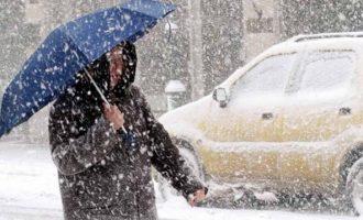 Iσχυρές καταιγίδες και πυκνές χιονοπτώσεις την Τρίτη – Ποιες περιοχές θα επηρεαστούν