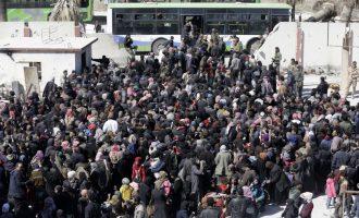 Ακόμα 20.000 άμαχοι «βγήκαν» από την τζιχαντοκρατούμενη Ανατολική Γούτα στη Δαμασκό
