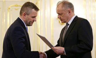 Ο πρόεδρος της Σλοβακίας διόρισε νέα κυβέρνηση με πρωθυπουργό τον Πελεγκρίνι