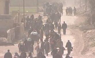 Περισσότεροι από 30.000 άμαχοι «βγήκαν» από την τζιχαντοκρατούμενη Ανατολική Γούτα