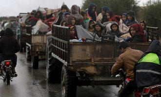 200.000 εκτοπισμένοι από την Εφρίν κοιμούνται στη γη – Ανθρωπιστική τραγωδία
