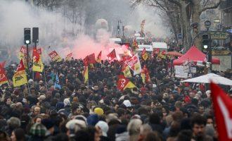 Χιλιάδες Γάλλοι δημόσιοι υπάλληλοι διαμαρτυρήθηκαν για τις μεταρρυθμίσεις Μακρόν