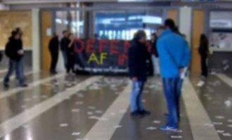 Παρέμβαση αντιεξουσιαστών στα γκισέ της Turkish Airlines για την Εφρίν