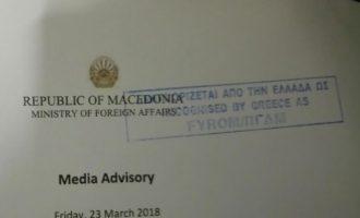 Τι τραβάνε και αυτοί οι Σκοπιανοί με τον Κοτζιά – Τους σφράγισε τα προγράμματα της επίσκεψης με «ΠΓΔΜ»