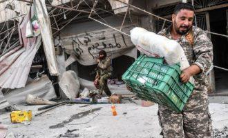 Με τα μούτρα στο πλιάτσικο – Οι μισθοφόροι των Τούρκων λεηλατούν την Εφρίν (φωτο)