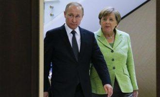 «Έλα να βρούμε βιώσιμες λύσεις» είπε η Μέρκελ στον Πούτιν