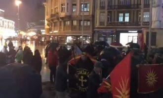 20 Σκοπιανοί διαδηλώνουν κατά του Κοτζιά στα Σκόπια (βίντεο)