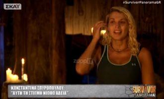 Η Κωνσταντίνα Σπυροπούλου πραγματική Queen – Τι είπε φεύγοντας από το Survivor (βίντεο)