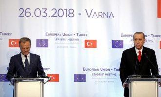 """""""Χαστούκι"""" Ε.Ε. σε Ερντογάν: Τον εγκαλούν για Αιγαίο, κυπριακή ΑΟΖ και Έλληνες στρατιωτικούς"""