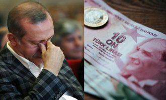 Η τουρκική λίρα καταρρέει- Ένα ευρώ ανταλλάσσεται με πάνω από 5 λίρες