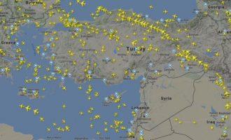 «Άδειασε» ο εναέριος χώρος της Συρίας – Σταμάτησαν να πετούν αεροσκάφη