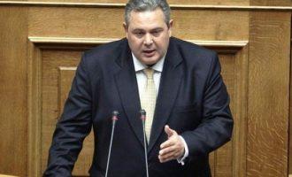 Καμμένος: Κατά παράβαση κάθε αρχής διεθνούς δικαίου η κράτηση των δύο Ελλήνων στρατιωτικών
