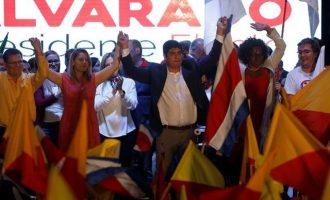 """Ο κεντροαριστερός Κεσάδα έκανε """"περίπατο"""" στις εκλογές στην Κόστα Ρίκα"""