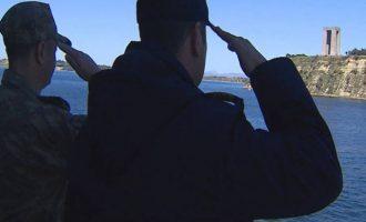 Τουρκικό μνημόσυνο στα Δαρδανέλια από το Πολεμικό Ναυτικό της Άγκυρας (φωτο)