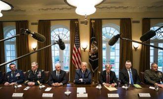 Όλα τα ενδεχόμενα ανοιχτά για μείζονα στρατιωτική δράση στη Συρία – Μαζί με Τραμπ ο Μακρόν