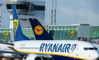 Η Ryanair ανακοίνωσε μείωση εσωτερικών πτήσεων στην Ελλάδα