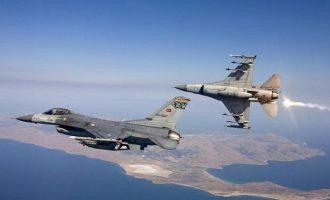 Νέες προκλήσεις από Άγκυρα: 16 παραβιάσεις από τουρκικά F-16 στο Αιγαίο και δύο εμπλοκές