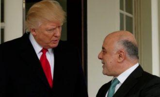 Τηλεφωνική συνομιλία με τον Πρωθυπουργό του Ιράκ είχε ο Τραμπ για τον χαμό στη Μέση Ανατολή
