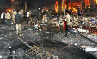 Βομβιστική επίθεση σε κηδεία Ιρακινών παραστρατιωτικών – 16 νεκροί και 14 τραυματίες