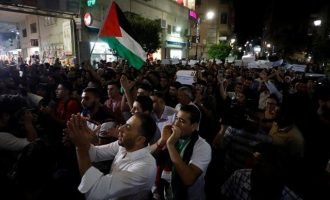 Δακρυγόνα για να διαλυθεί διαδήλωση Παλαιστινίων στη Ραμάλα