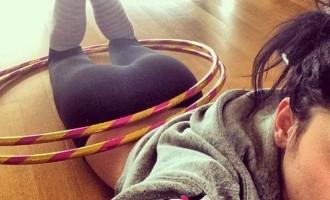 Πόζαρε έτσι στο twitter, έκανε διάλειμμα από τη γυμναστική