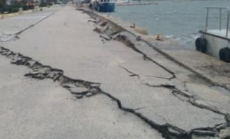 Οι πρώτες εικόνες από το νέο ισχυρό σεισμό στην Κεφαλονιά