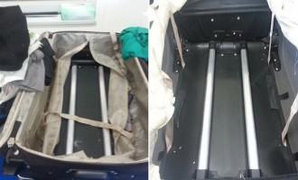 Είχε κοκαΐνη μέσα στα χερούλια και τους σωλήνες της βαλίτσας!