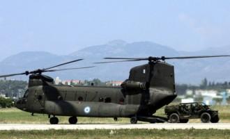 Βρέφος μεταφέρθηκε με ελικόπτερο Σινούκ στο νοσοκομείο Ηρακλέιου