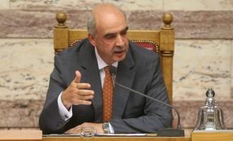 Τη Δευτέρα στη Βουλή η πρόταση μομφής του ΣΥΡΙΖΑ κατά του Β. Μεϊμαράκη