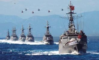 Συνωστισμός πολεμικών στόλων στην Ανατολική Μεσόγειο – Μετά τους Ρώσους και οι Τούρκοι στέλνουν καράβια