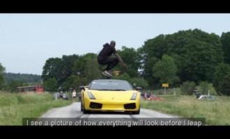 Απίστευτο βίντεο: Αθλητής πηδά πάνω από Λαμποργκίνι που κινείται με 130 χλμ/ώρα