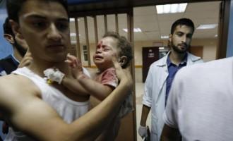 Δραματική κατάσταση στη Γάζα: 300 νεκροί, 2.200 τραυματίες, 80% άμαχοι, γυναίκες, μικρά παιδιά