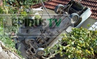 Αυτοκίνητο προσγειώθηκε σε αυλή! (φωτογραφίες)
