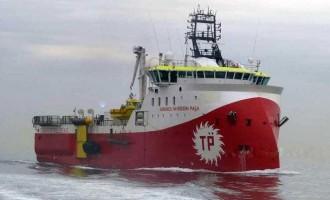 Το «Barbaros» εισήλθε στο Οικόπεδο 9 της κυπριακής ΑΟΖ συνοδευόμενο από πολεμικά πλοία