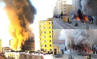 Άγνωστος έβαλε φωτιά σε τζαμί στη Σουηδία