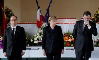 Παρουσία της Μέρκελ το μνημόσυνο για τα θύματα του Airbus της Germanwings