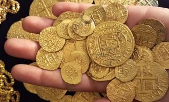 Βρήκαν θησαυρό με ισπανικό χρυσάφι σε ναυάγιο στη Φλόριντα