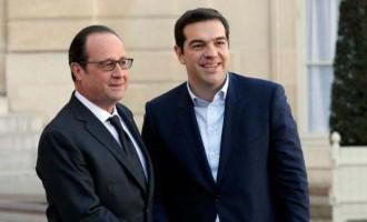 Ο Ολάντ χαρούμενος από τη νίκη Τσίπρα έρχεται στην Αθήνα